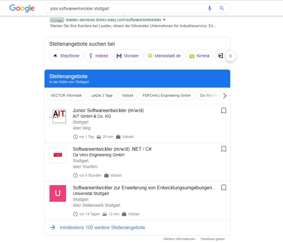 GoogleJobs_Softwareentwickler_Stuttgart