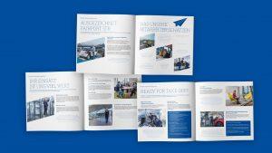 emplify Referenzprojekt Broschüren Arbeiten beim Stuttgart Airport