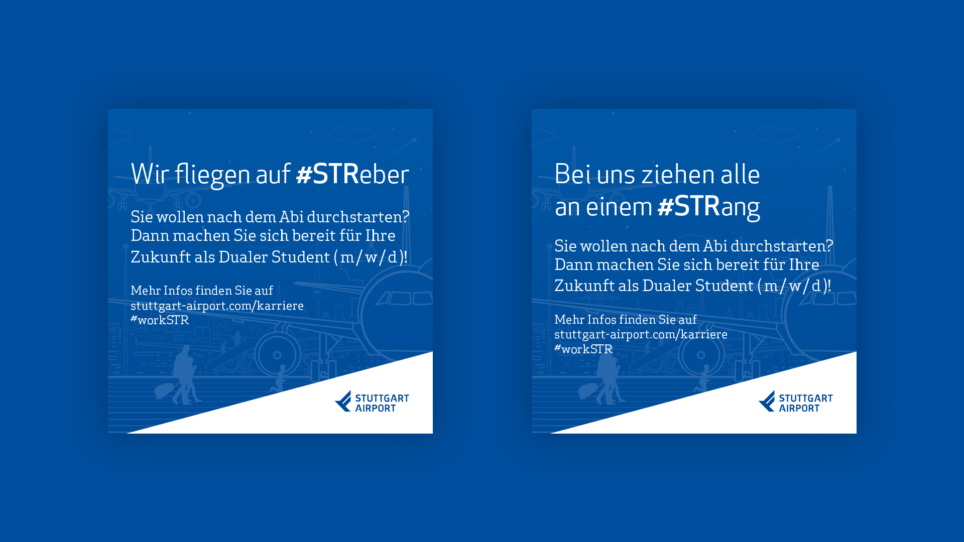 emplify Referenzprojekt Stuttgart Airport Postkarten