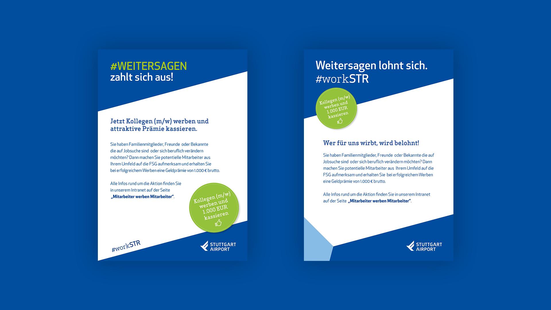 emplify Referenzprojekt Stuttgart Airport Flyer